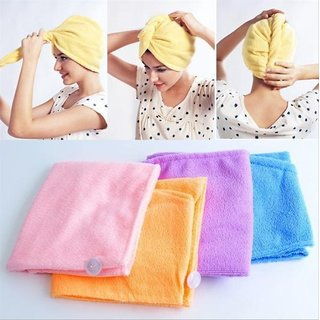 Kudos Enterprise Set Of 3 Cotton Hair Wrap Fast Drying Dryer Towel Bath Wrap Twist Quick Dry Head
