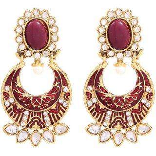 GoldNera Ethnic looking wedding wear designer Alloy Dangle earrings