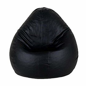 StyleCo XL size Black  Modern CLassic Bean Bag- (Cover- Without Beans) - Black