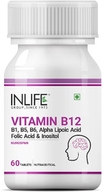 INLIFE Vitamin B12 Alpha lipoic acid (ALA),60 Tablets For Cognitive Memory Health