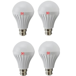 Alpha Pro Pack of 4 Natural White Led Bulb With  5 Watt