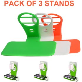 Tricolor Pack of 3 Mobile Charging Stands by KSJ