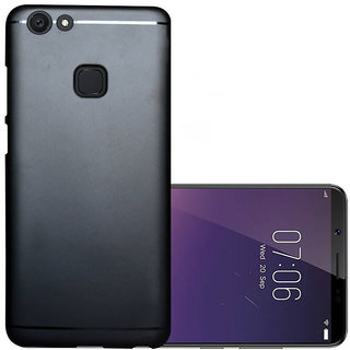 ECellStreet 360 Degree Protection Soft Back Cover For Vivo V7 Plus / V7 + (Black)