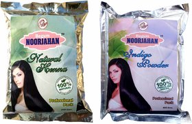 Indigo Powder + Henna Powder Combo( 200gm X 2) For Hair Color