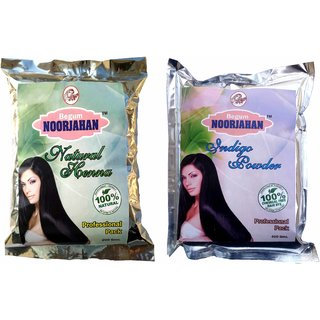 Indigo Powder + Henna Powder Combo( 200gm X 2) For Hair Color
