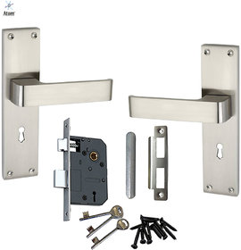 Atom O-33 8 Mortise Door Lock  With Double Stage Lock With 3 Key SS Finish