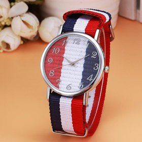new Canvas Belt multi-colour Style quartz WATCH for Boys and Girls (unisex)