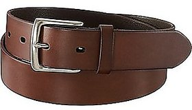 Men and boys pure leather belt brown