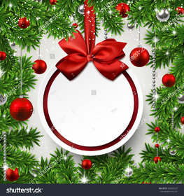 Style UR Home-Christmas-frame-background-with-fir-twigs-and-red-balls-round-wallpaper-2 X 2