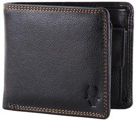 WildHorn WHGW18 Black Leatherite Single fold Wallet