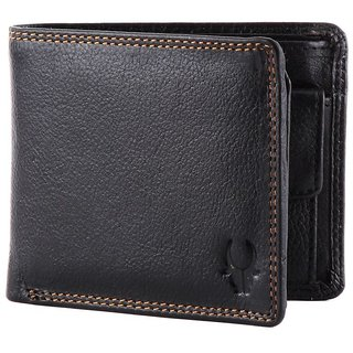 WildHorn WHGW18 Black Leatherite Single fold Wallet