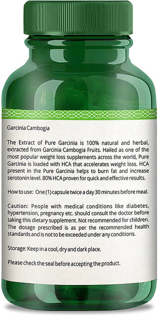 Simply Herbal Garcinia Cambogia Extract 800mg 60 Capsules 100 Veg Weight Loss Supplement