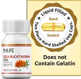 INLIFE Seabuckthorn Seed Oil,500 mg, 30 Veg Caps,Anti Aging   7  Supplement