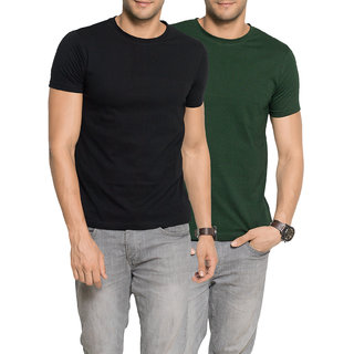 caeb2bc160b Buy Zorchee Men's Multicolor Plain Round Neck T-Shirt (Pack of 2) Online -  Get 50% Off