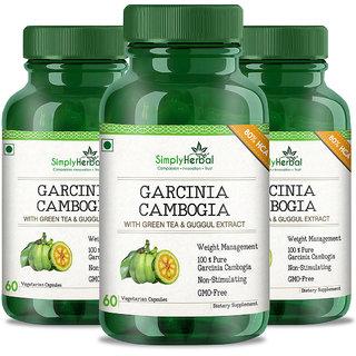 Simply Herbal Garcinia Cambogia 800mg 60 Capsules, 100 Veg, Weight Loss Supplement (3)