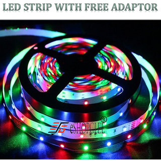 LED STRIP LIGHTS FOR DECORATION - 5 METER  MULTICOLOR STRIP LED LIGHT  DIWALI FESTIVAL PARTY PUJA HOME WALL DCOR CHRISTMAS CodeRB-8809