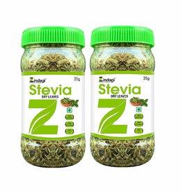 Zindagi Stevia Dry Leaves - Best Stevia Leaves For Diabetic Patients - Natural Sugarfree Sweetener (Pack Of 2)