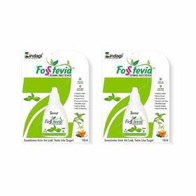 Zindagi Fosstevia (Stevia) Liquid - Natural Stevia Leaves Extract - Sugarfree Sweetener (Pack Of 2)