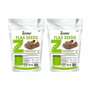 Zindagi Flax Seeds - Best Fat Burner Product - Diabetic Care Seeds - Sugarfree (Pack Of 2)