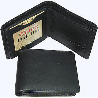 Leather Wallet Black for mens
