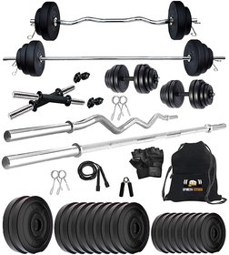 Sporto Fitness 40KG PVC Combo Of 2 WB Home GYM