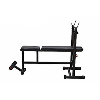 SPORTO FITNESS  Weight Lifting Multi Purpose Adjustable Multi Bench 4 IN 1 Home Gym Bench ( Incline + Decline + Flat + Sit Up Bench)