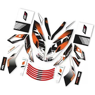 CR Decals Ktm Duke Raceline Edition Sticker Kit (Duke 200/390)