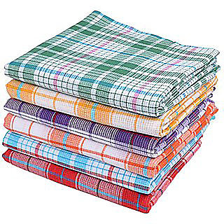 Home Cotton 1 Handloom Bathroom Linen 349 Gsm Large Multicolor Solid Bath Towel