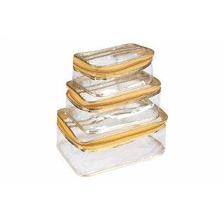 Box Vanity rectangular Shaped Plain transparent - Gl (3 pcs Set)