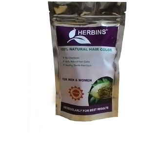 Herbins 100 Herbal Hair Color Soft Black - 100gm