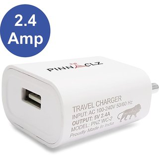 Pinnaclz 2 Amp Wall Charger (White)