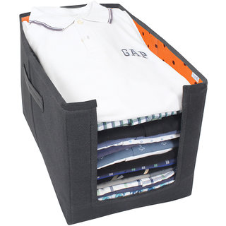 PrettyKrafts Shirt Stacker - Closet Organizer - Shirts and Clothing Organizer - ExileOrange