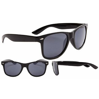 Aligatorr Stylish UV Protection Black Unisex UV400 Wayfarer Sunglass