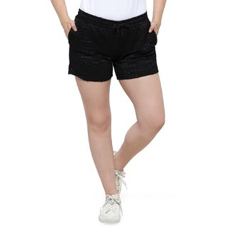 Smarty Pants women black lace shorts.