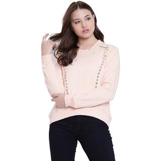 Texco Peach Non Hooded Sweatshirt for Women