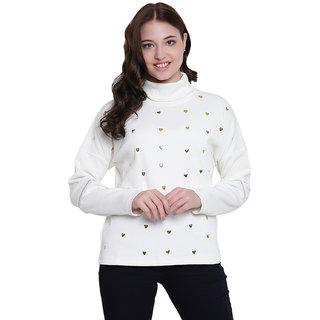 Texco Cream Non Hooded Sweatshirt for Women