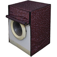Dream Care Brown Colour with Square Design Washing Machine Cover for Fully Automatic Front Loading IFB Senator Aqua SX 6.5 KG