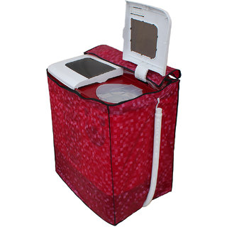 Dream Care Pink Colour with Square Design Washing Machine Cover for Semi Automatic  Whirlpool Superb Atom 60I 6 KG