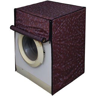 Dream Care Brown Colour with Square Design Washing Machine Cover for Fully Automatic Front Loading IFB Senorita Aqua VX  6.5 KG