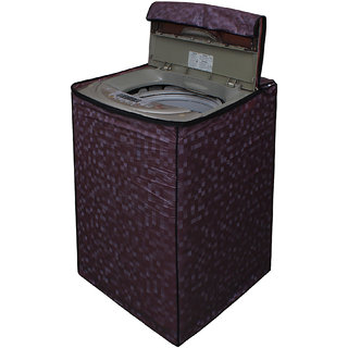 Dream Care Brown Colour with Square Design Washing Machine Cover for Fully Automatic Top Loading IFB TL-RDW Aqua 6.5 KG