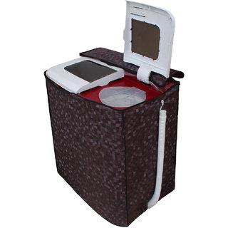 Dream Care Brown Colour with Square Design Washing Machine Cover for Semi Automatic  LG P8539R3SM 7.5 KG