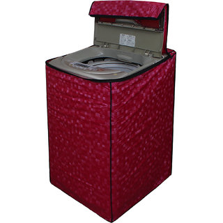 Dream Care Pink Colour with Square Design Washing Machine Cover for Fully Automatic Top Loading IFB TL-RDW Aqua 6.5 KG
