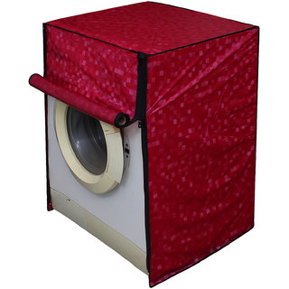 Dream Care Pink Colour with Square Design Washing Machine Cover for Fully Automatic Front Loading IFB Senorita Aqua SX 6.5 KG