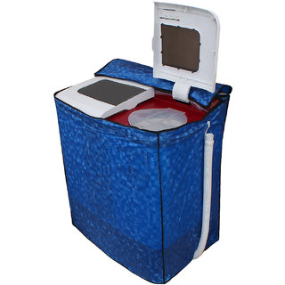 Dream Care Blue Colour with Square Design Washing Machine Cover for Semi Automatic  Whirlpool Superb Atom 60I 6 KG