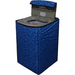Dream Care Blue Colour with Square Design Washing Machine Cover for Fully Automatic Top Loading LG T7567TEEL3 6.5 KG