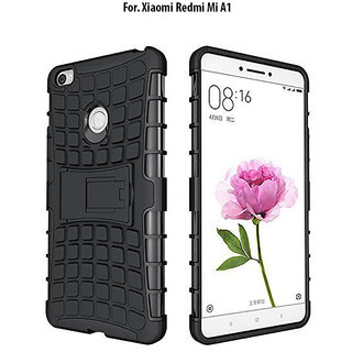 REDMI A1   KickStand Hybrid Warrior Armor Defender Back Case Cover.