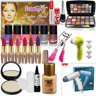 Beauty Ka Maha Combo Sets With Hair Dryer  Facial Kit, Face Massager Etc