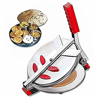 One Stop Red Stainless Steel Puri Maker