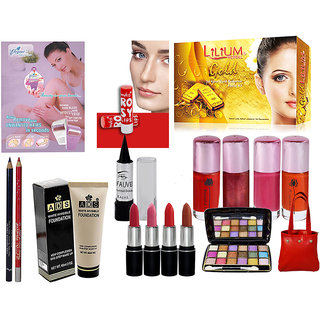 Trending Looks Make Up Combo With Massager