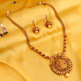 Sukkhi Stylish Bahubali Inspired Gold Plated Necklace Set For Women